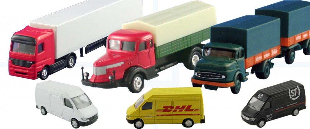 Miniatur LKW und Modellautos