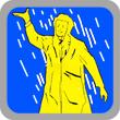 Einweg Regenponcho und Regenmantel