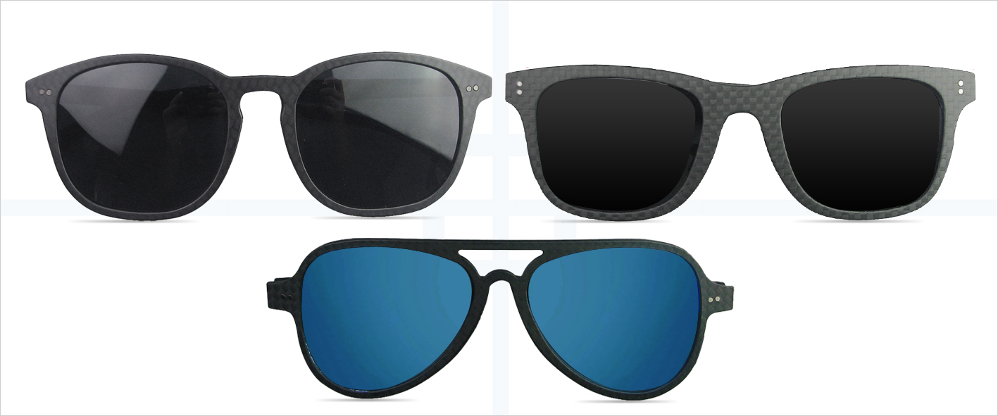 Karbon Sonnenbrillen Formen
