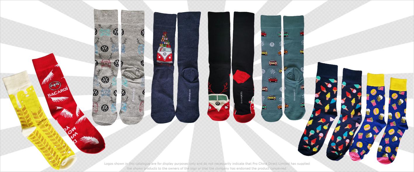 Socken und Strümpfe mit Logo